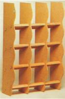 Houten duiven loketkast, 12-36 zitplaatsen