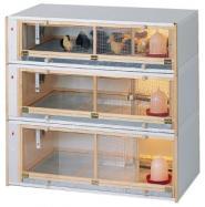 Kuikenopfokbox-combinatie, 100x50x102cm LxBxH (totaal)