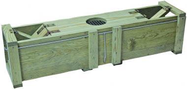 Marterval 100x20x22cm massief hout - voor het vangen van konijnen en ratten