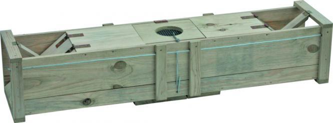 Marterval 120x20x22cm massief hout  - ook voor het vangen van konijnen en ratten